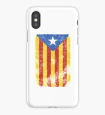 Estelada Flag - Distressed Catalan Independence iPhone Case/Skin