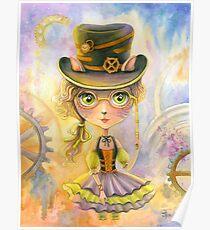 Lulu Cat Girl. Watercolor Painting Poster