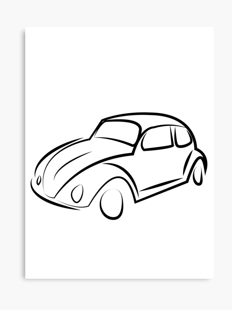 Beetle Car Canvas Print By Oranguart