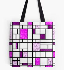 Modern Art Pink and Purple Speckled Grid Pattern Tote Bag