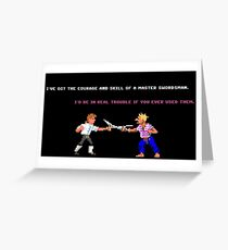 Guybrush - Insult Swordfighting Greeting Card