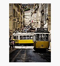 old streetcars in Lisbon Photographic Print
