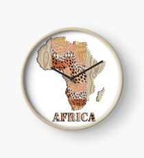 ABSTRACT MAP OF AFRICA. Clock