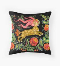 Magical Creature Folk Art (Lamia) Throw Pillow