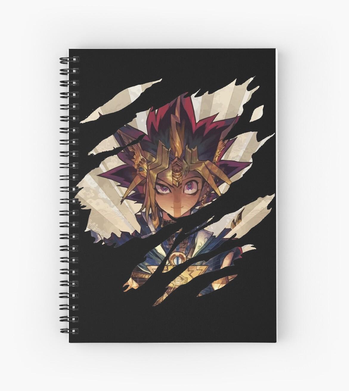 yu gi oh yami yugi 2 spiral notebooks by deslumbra redbubble