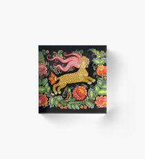 Magical Creature Folk Art (Lamia) Acrylic Block