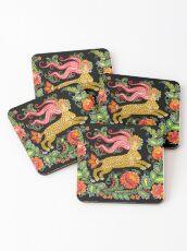 Magical Creature Folk Art (Lamia) Coasters