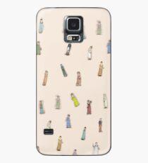 Austen Characters - peach Case/Skin for Samsung Galaxy