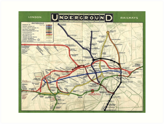 London England Transit Map.Tube Underground Map 1908 London Historic Uk Gb England On White Art Print By Tom Hill Designer