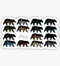 Mountain Bear Collage Sticker