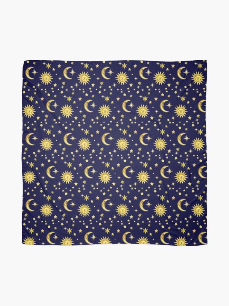 Alternate view of Sun, Moon & Stars Scarf