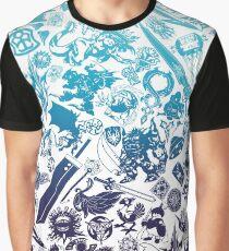 Moogle-verse (blue) Graphic T-Shirt