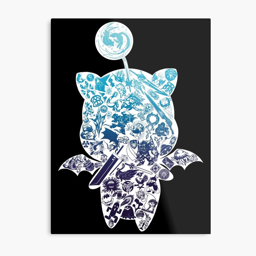 Moogle-verse (blue) Metallbild