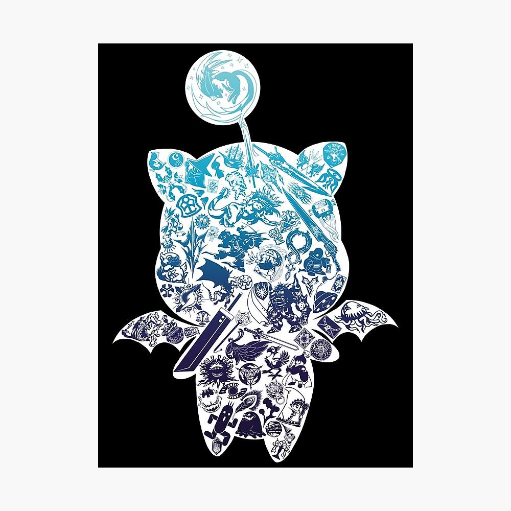 Moogle-verse (blue) Fotodruck