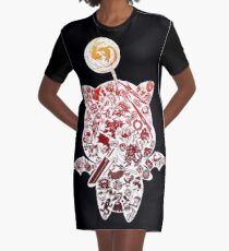 Final Fantasy Moogle-verse (red) Graphic T-Shirt Dress