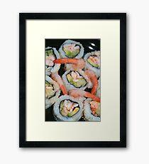 Spicy Shrimp Rolls Framed Print