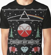 Hey Yule - Pink Christmas Graphic T-Shirt