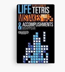 Tetris = Life Canvas Print