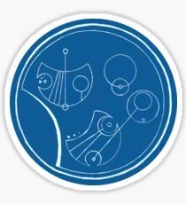 Bigger On The Inside - Blue and White, Round Sticker