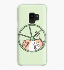 Hamster Sleeping in Exercise Wheel Case/Skin for Samsung Galaxy