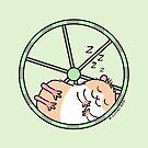 Hamster Sleeping in Exercise Wheel by zoel