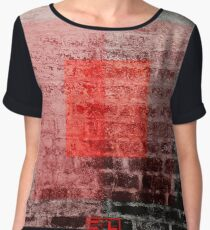 Red Blocks 2 Women's Chiffon Top