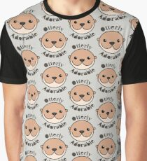 Otterly Adorable - Otter Face Graphic T-Shirt