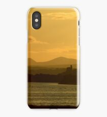 Twilight over Derryveagh mountains - with O'Doherty Castle from Inch Level iPhone Case/Skin