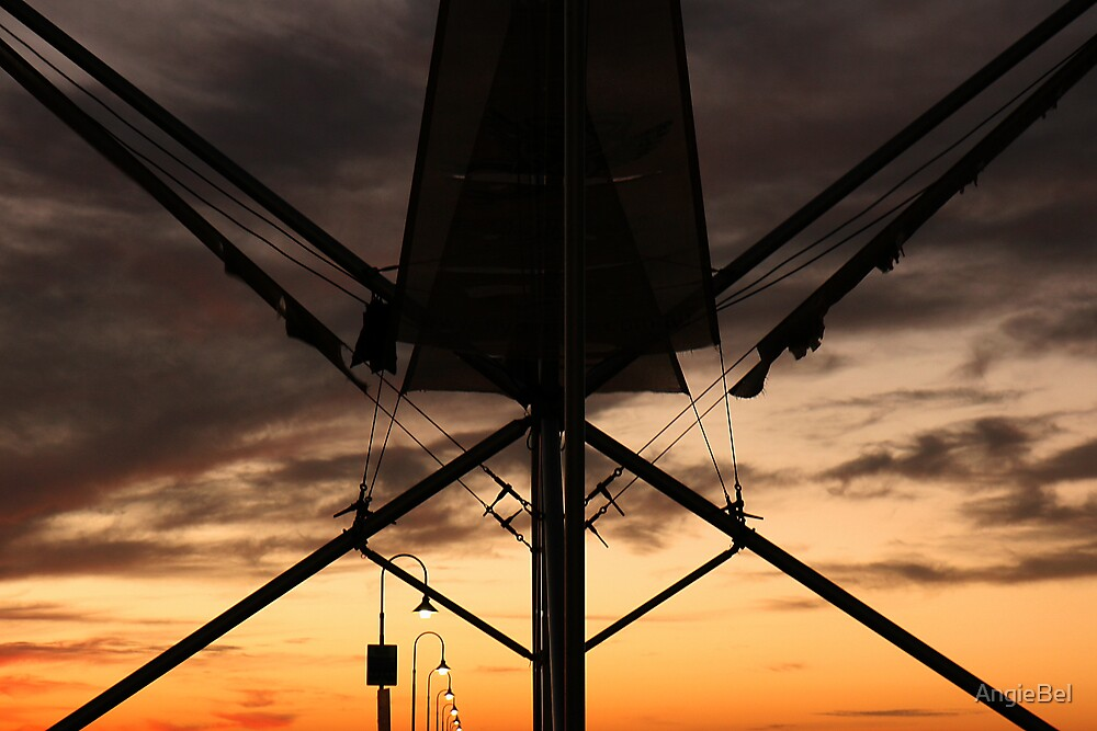 Bungee Swing At Sunset by AngieBel