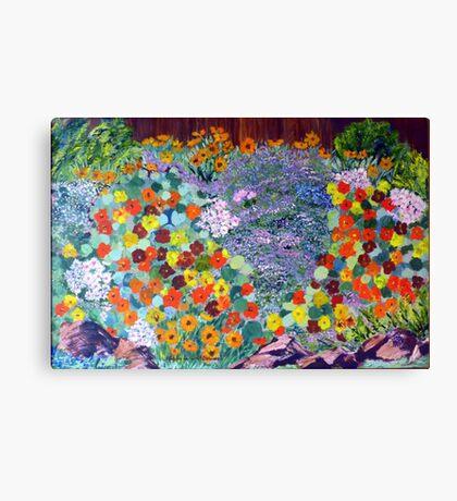 Nasturtium garden . Canvas Print
