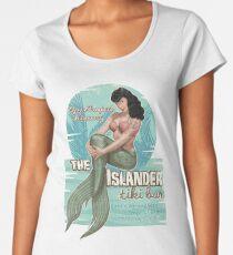 The Islander Tiki Bar - Bettie Page Mermaid Women's Premium T-Shirt