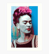 Frida Kahlo blue Art Print