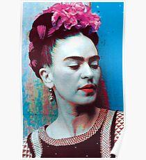 Frida Kahlo blue Poster