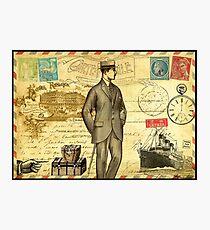 Travel diary man Photographic Print