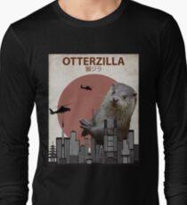Otterzilla - Giant Otter Monster Long Sleeve T-Shirt