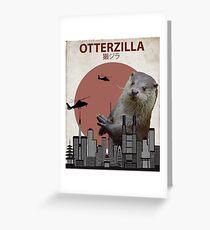 Otterzilla - Giant Otter Monster Greeting Card