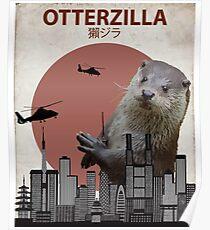 Otterzilla - Giant Otter Monster Poster