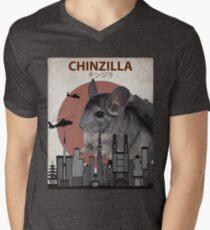 Chinzilla - Giant Chinchilla Monster Men's V-Neck T-Shirt