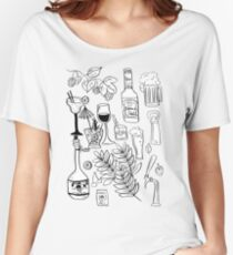 Alcohol Doodles Women's Relaxed Fit T-Shirt
