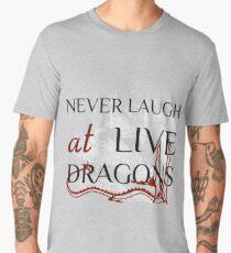 Never Laugh at Live Dragons ~ JRR Tolkien Men's Premium T-Shirt