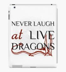 Never Laugh at Live Dragons ~ JRR Tolkien iPad Case/Skin