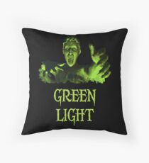 GREEN LIGHT! ..you really shouldn't have blinked... Throw Pillow