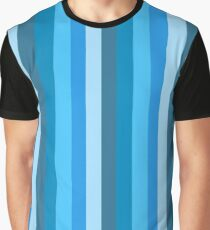 Vertical Stripe (blue) Graphic T-Shirt