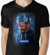 markiplier - the typography gamer Men's V-Neck T-Shirt