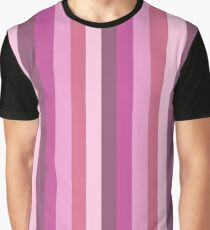 Vertical Stripes (pink) Graphic T-Shirt