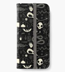 Witchcraft pattern with animal skulls iPhone Wallet/Case/Skin
