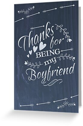 Thanks for being my boyfriend Valentines Day card Greeting Cards