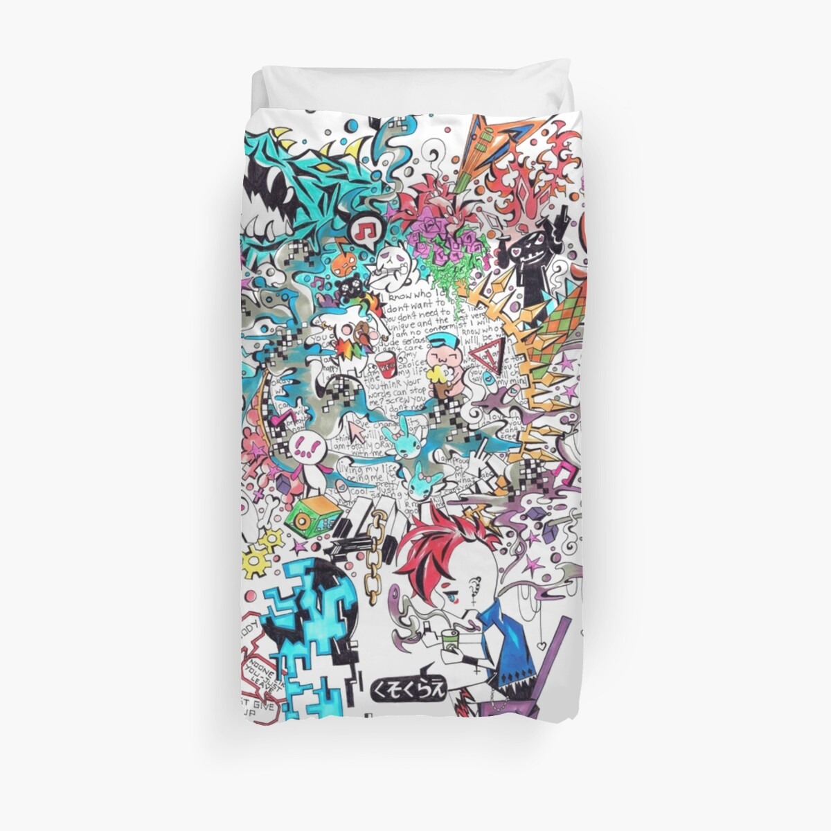 REBEL REVOLUTION GRAFFITI Duvet Cover