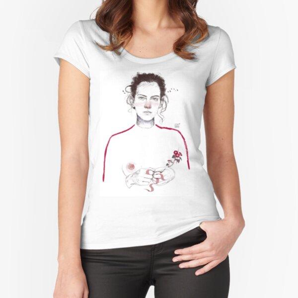 LA LUCHADORA by elenagarnu Fitted Scoop T-Shirt