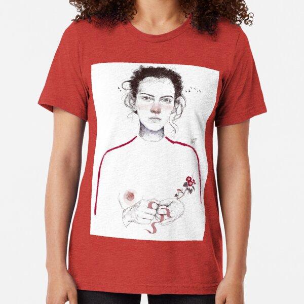 LA LUCHADORA by elenagarnu Tri-blend T-Shirt
